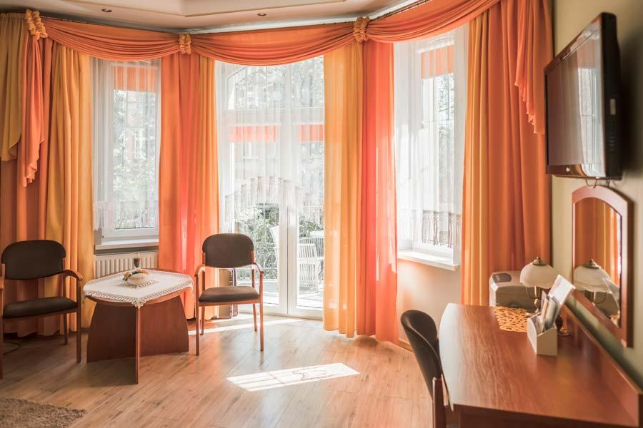 Wnętrze apartamentu w Hotel Cis w Świnoujściu